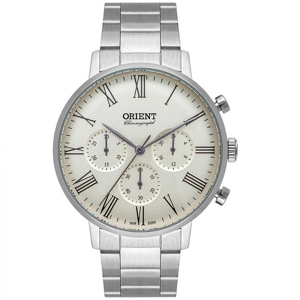 Relógio Orient Cronógrafo Prata Masculino MBSSC214 S3SX