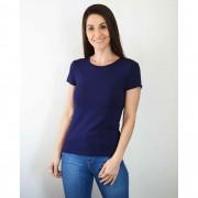 Blusa Feminina Baby Look Azul Marinho