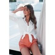 Camisa Feminina Com Botões Off White