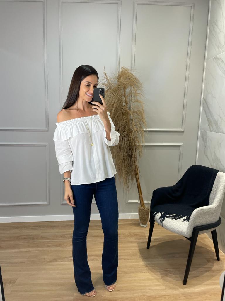 BLUSA FEMININA CIGANA MANGA LONGA - OFF WHITE