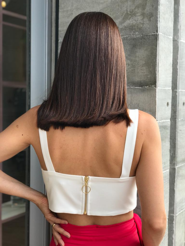 TOP CROPPED ALLURE - OFF WHITE