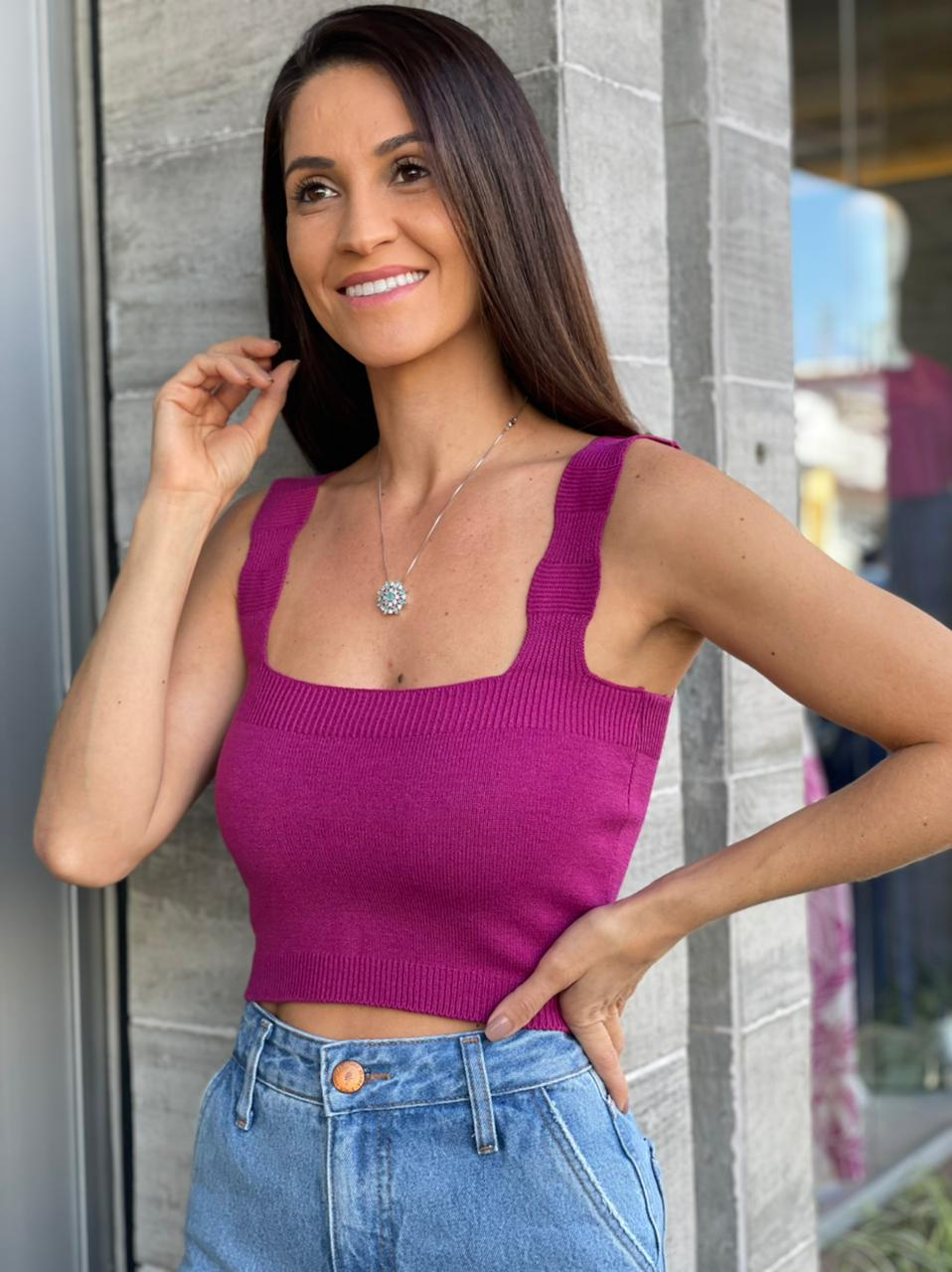 TOP CROPPED TRICOT - CORES