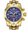 Dourado com fundo azul 62
