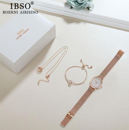 Kit de luxo  Relógio  Com Colar E Brinco Ibso