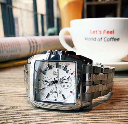 Relógio de luxo megir big dial