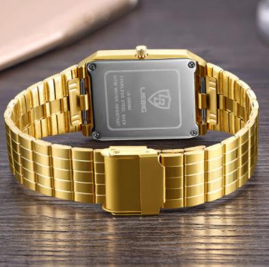 Relógio Exclusivo á Prova D'água Premium Gold