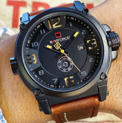 Relógio Masculino Naviforce Couro