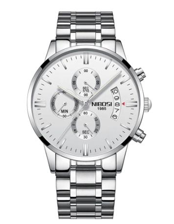 Relógio Masculino Nibosi Funcional vidro de safira