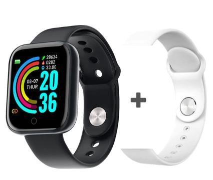 Smartwatch Y68 com Pulseira Extra