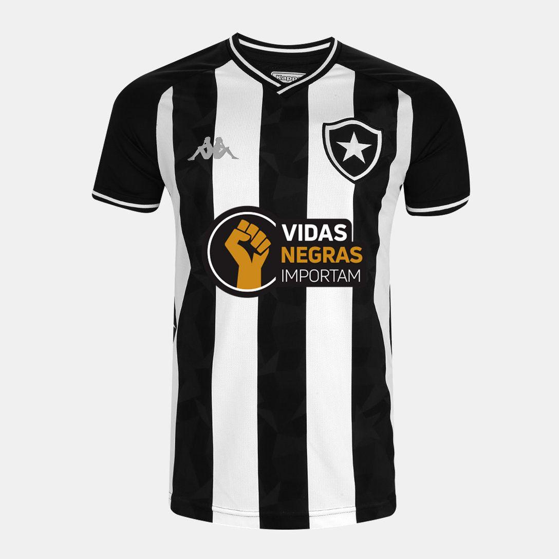 """Camisa Kappa Oficial I Especial """"Ser Botafogo é orgulho"""" Infantil"""