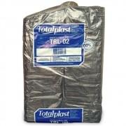 BANDEJA ISOPOR EPS TRL-02 RASA PRETA 210X140X18MM TOTALPLAST 400UND