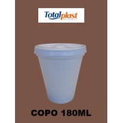 COPO TERM ISOPOR EPS CTT-180 BRANCA TOTALPLAST 180ML 50X20UND