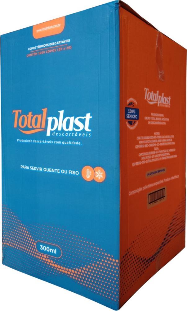COPO TERM ISOPOR EPS CTT-300 BRANCA TOTALPLAST 300ML 50X20UND