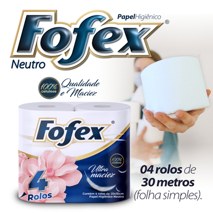 PAPEL HIGIENICO FOFEX NEUTRO 16X4UND