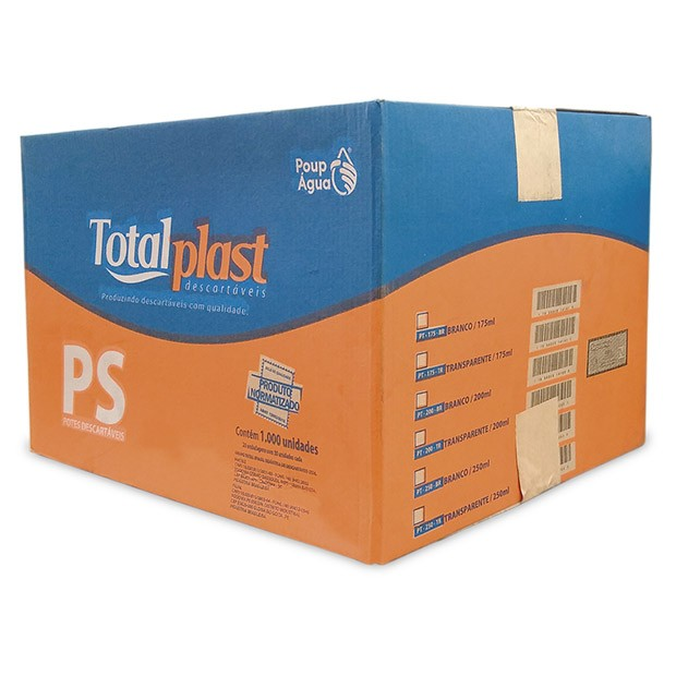 POTE PLAST TRANSP PT-200TR TOTALPLAST 200ML 20X50UND