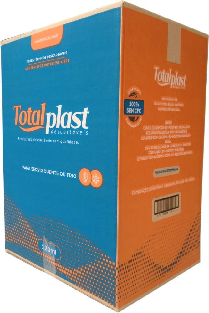 POTE TERM ISOPOR EPS PTT-120 BRANCA TOTALPLAST 120ML 50X20UND