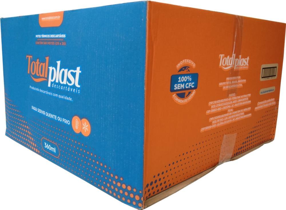 POTE TERM ISOPOR EPS PTT-360 BRANCA TOTALPLAST 360ML 25X20UND