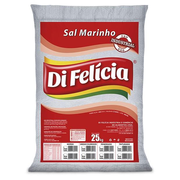 SAL MARINHO GROSSO PENEIRADO SEM IODO FERROC DI FELICIA SACO 25KG