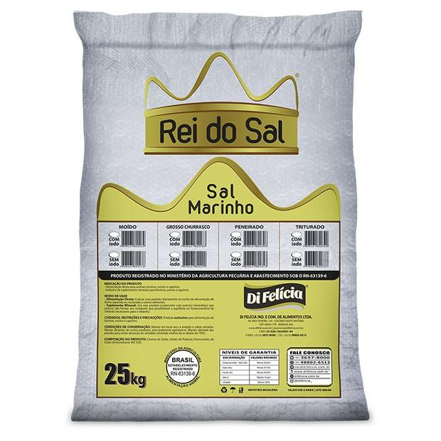 SAL MARINHO MOIDO IODADO FERROC REI DO SAL SACO 25KG
