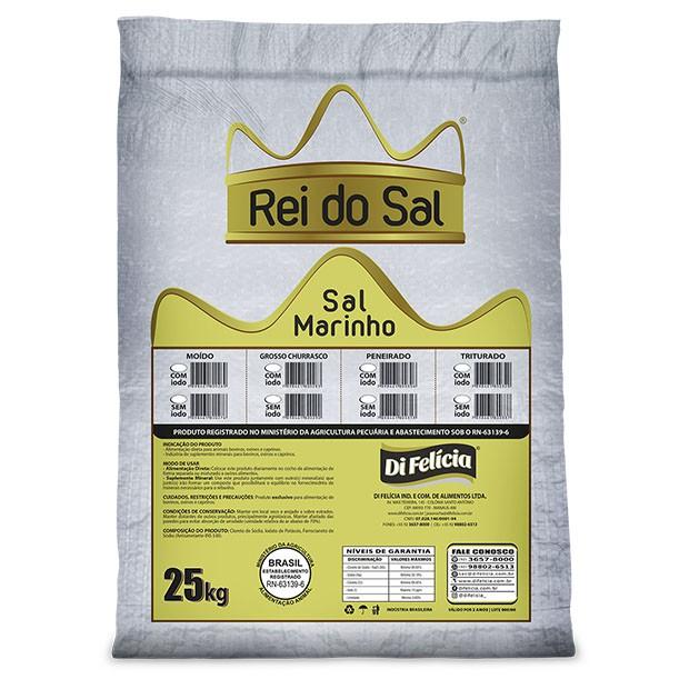 SAL MARINHO MOIDO SEM IODO FERROC REI DO SAL SACO 25KG
