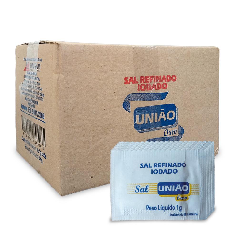 SAL MARINHO REFINADO UNIAO OURO SACHE 2000X1G
