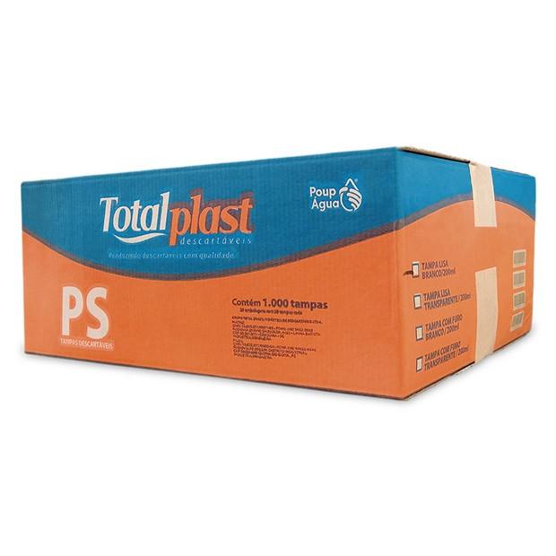 TAMPA PLAST PS FURADA BRANCO TP-200/250BR TOTALPLAST 20X50UND