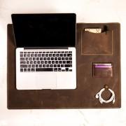 Deskpad em Couro Café 90x45