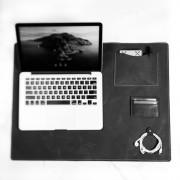 Deskpad em Couro Preto 60x45