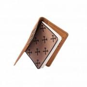 Porta Passaporte e Caderno de Viagens Material e cor:Couro Caramelo