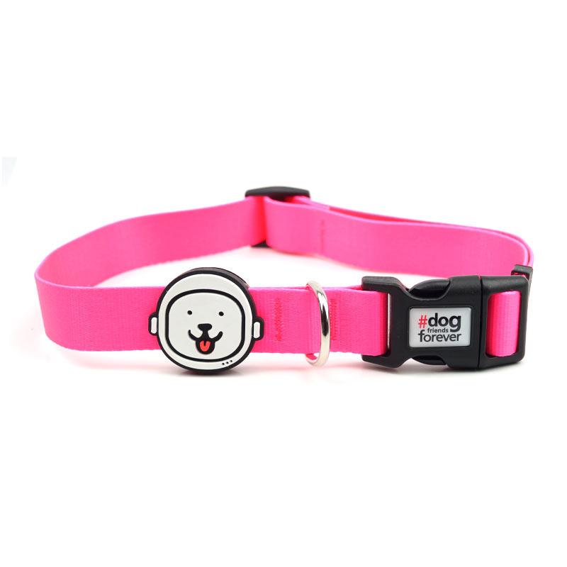 Coleira para Cachorro Rosa Neon