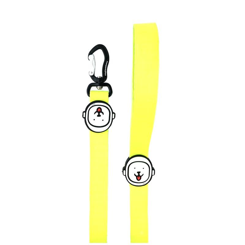 Guia para Cachorro Amarelo Neon