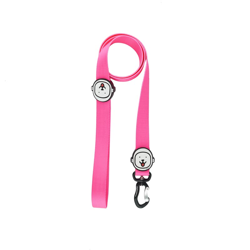 Guia para Cachorro Rosa Neon