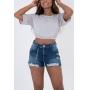 Shorts Rihanna Com Detalhe Corrente