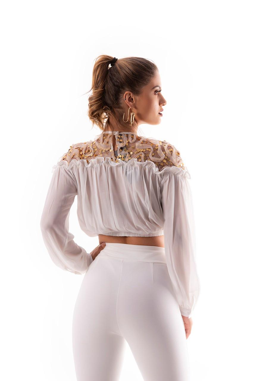 Blusa ombro shine