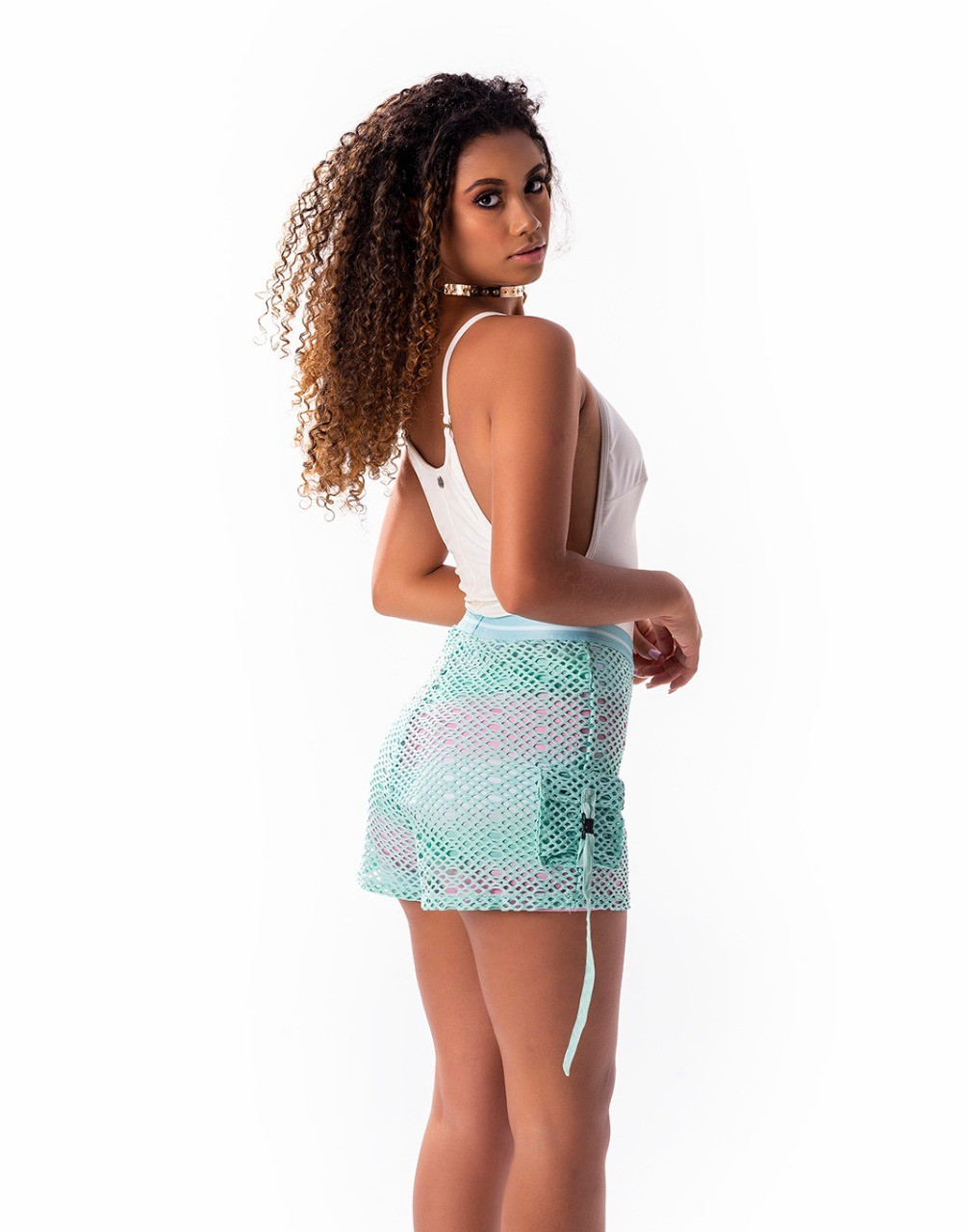 Shorts estampa exclusiva duplo com tela por cima