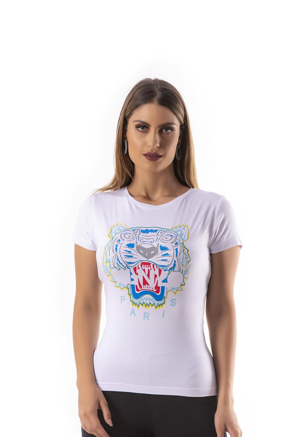 T-shirt com estampa de tigre