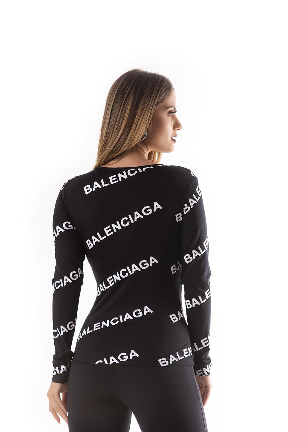 T-shirt manga longa Balenciaga