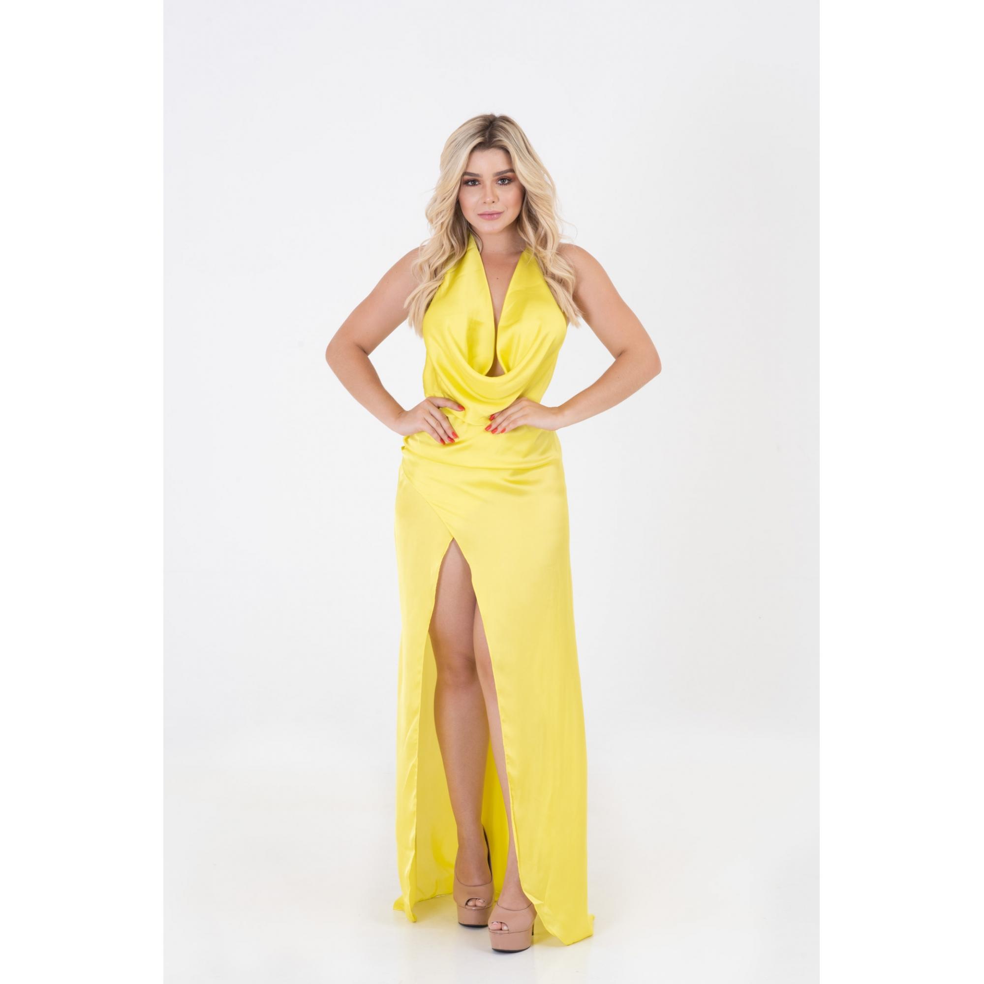Vestido Com Fenda Frontal