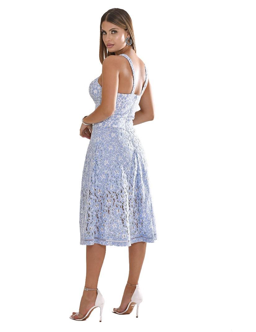 Vestido de renda com shorts