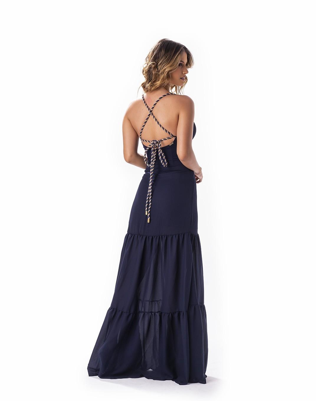 Vestido longo com alça