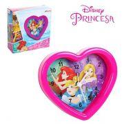 Relógio De Mesa Despertador Princesas Coração Rosa