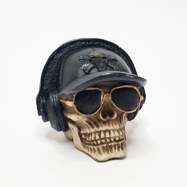 Crânio Boné Com Fone Mini