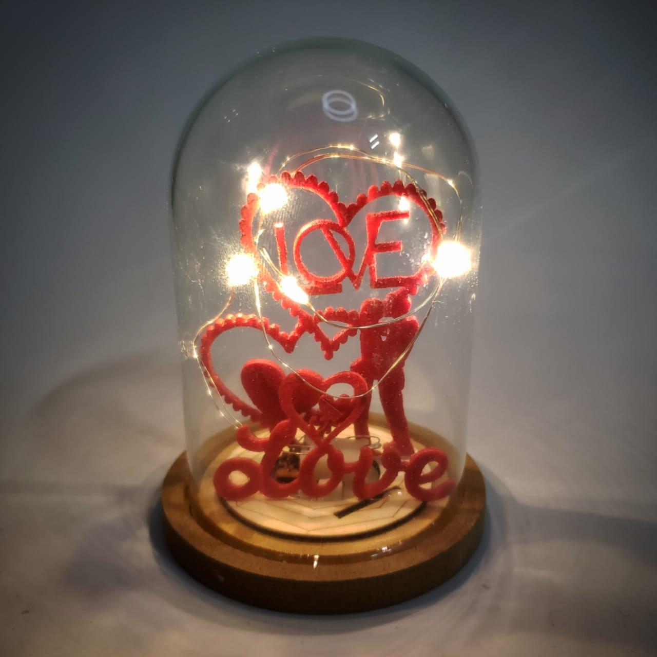 Enfeite Decorativo Cúpula Love Micro Led