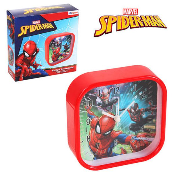 Relógio despertador Infantil Homem Aranha