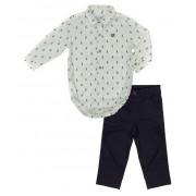 Conjunto Infantil Masculino Camisa Branca e Calça Club Z