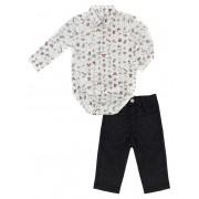 Conjunto Infantil Masculino Camisa Estampada e Calça Club Z