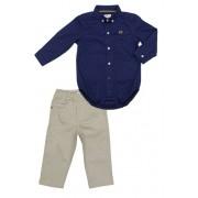 Conjunto Infantil Masculino Camisa Marinho e Calça Club Z