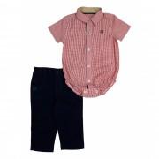 Conjunto Infantil Masculino Camisa Vermelha e Calça Club Z