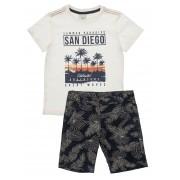 Conjunto Masculino Infantil Camiseta com Bermuda Club Z
