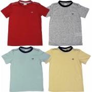Roupa Infantil kit 4 Camisetas Gola Redonda Club Z